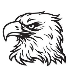 eagle head mascot drawing vector image
