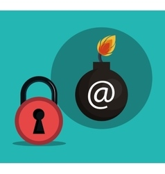 internet security design vector image
