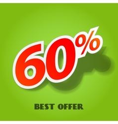 label percent vector image vector image
