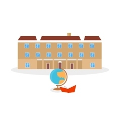 School and university building icon vector image vector image