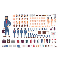 Businessman character constructor male clerk vector