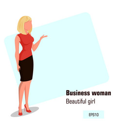 character beautiful business woman 11 vector image vector image