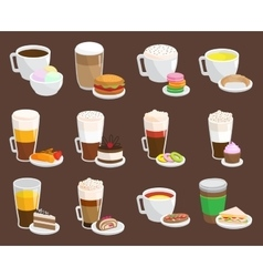 Coffee snack vector image