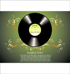 retro vinyl background vector image vector image