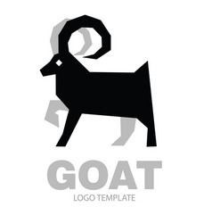 silhouette stylized drawing goat or nanny vector image vector image