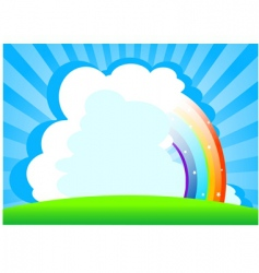 summer day background vector image vector image