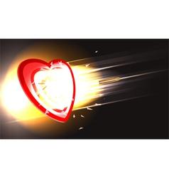 Bullet through heart vector