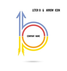 Creative letter B icon logo design vector image