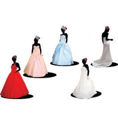 five brides vector image vector image