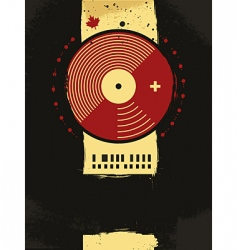 grunge musical poster vector image vector image