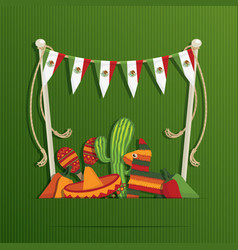 mexican decoration vector image vector image
