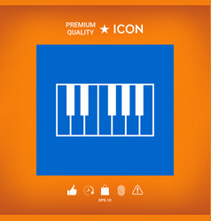 Piano keyboard icon vector