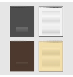 Set of open and closed spiral Notepad vector image