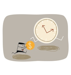 Buying Time vector image