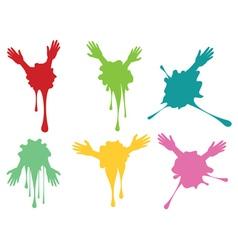 Cartoon Hands with Gestures8 vector image vector image