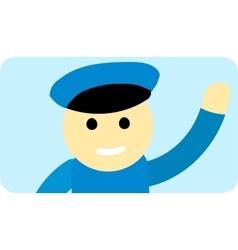 Driver man cute cartoon character vector