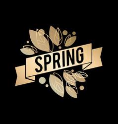 golden spring design big vector image