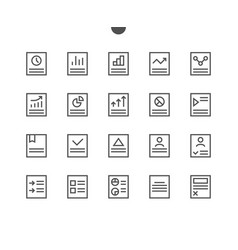 report ui pixel perfect well-crafted thin vector image vector image