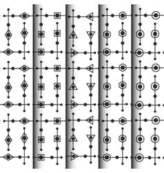 299geometric and dotty pattern set vector