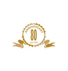 80 years ribbon anniversary vector image