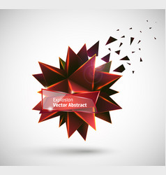 abstract explosion polyhedron vector image
