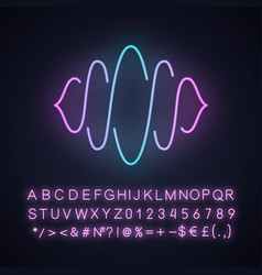 Abstract soundwave neon light icon sound audio vector