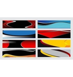 Abstract vertical header colorful wave vector