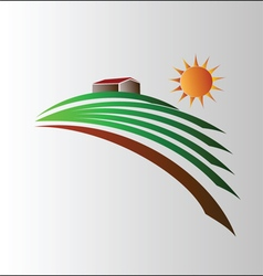 Agriculture symbol vector image