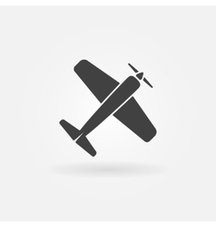Airplane symbol or icon vector image