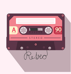 audio cassette retro media symbol vector image