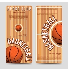 Basketball sport club flyers template vector image