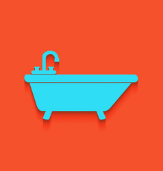 Bathtub sign whitish icon on vector
