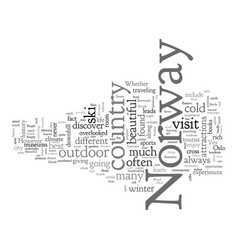 Beautiful sites gentle people in norway vector