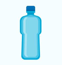 big blue plastic bottle of fresh potable water vector image