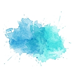Blue Watercolor splatters vector