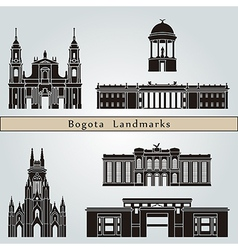 Bogota landmarks and monuments vector