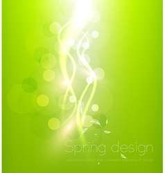 Bright Green Background with Curved White Lines vector