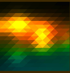 Brown orange green rows of triangles background vector