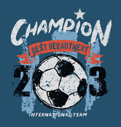 champion soccer department vector image