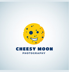 cheese moon photography abstract sign vector image