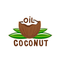 Coconut oil logo2 vector