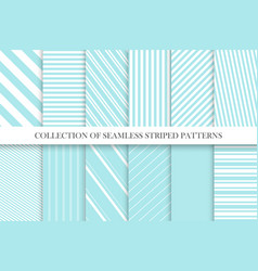 collection cute seamless striped patterns vector image