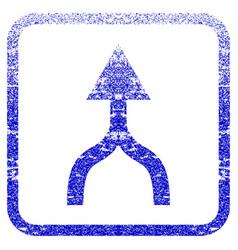 Combine arrow up framed textured icon vector
