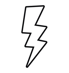 Comic thunder isolated icon vector