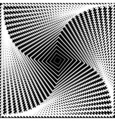 Design monochrome twirl movement square background vector