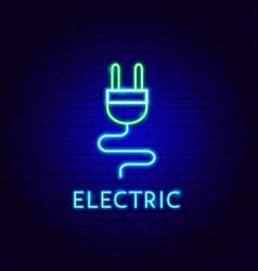 electric neon label vector image