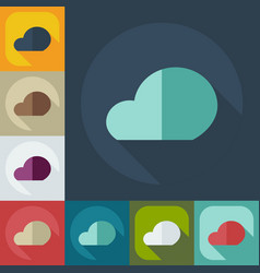 Flat modern design with shadow icons cloud vector