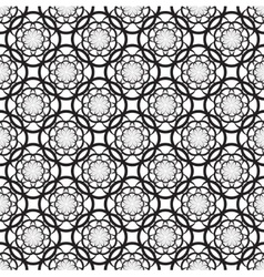 Floral seamless pattern with black flowers vector image