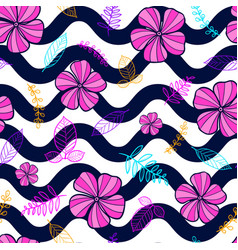 flower seamless pattern floral pattern vector image