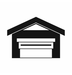 Garage with roof icon simple style vector image